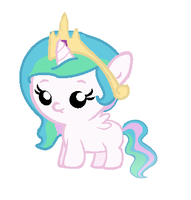 Little filly Celestia by alyssasly