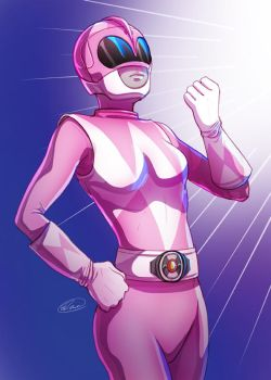 Pink Ranger by GoldenMuseX