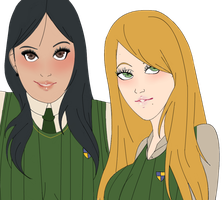 Emily and Kendra. by Silkvale