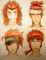 Red Haired Men Colored by lapie