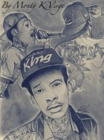 Drawing Wiz Khalifa by MontyKVirge