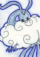 ACEO Altaria by ImaginaryFox