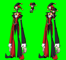 SkullGirls OC Jack and Jill sprite by NIGHTMAREZENUKI