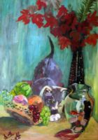 Still Life and Cat by RebexTrip