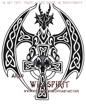 Guardian Of The Cross Tattoo by WildSpiritWolf
