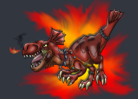 Skylanders: Pyraptor by Bluedramon
