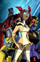 Transformers animated erotic cover by RudeToons