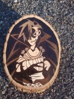 Kamina woodburning by ironhorn2501