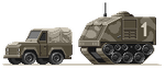 Jeep and APC by GreyPea