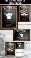 Restaurant Ad Flyer template by Hotpindesigns
