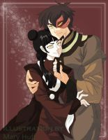 Avatar: Mai and Zuko by cherry-mary