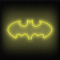 Neon Batman iPad Wallpaper by TheDoLittle