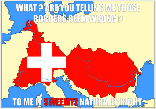 Very natural borders of Switzerland by Tonio103