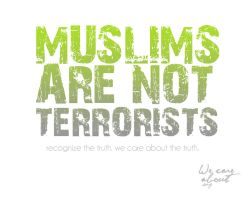 Muslims are not Terrorists by artsushi
