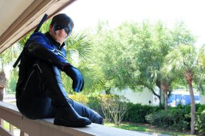 Nightwing on Vacation by Bluebird0020