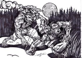 Werewolf Fight by AudioHomicide