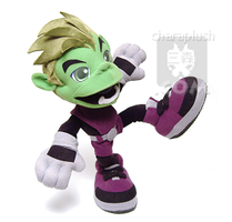 Teen Titans Beast Boy Plush 3 by kaijumama