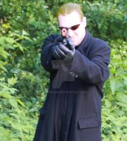 Me Cosplaying Wesker by Aikido456