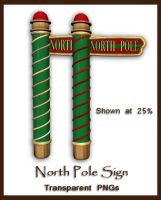 North Pole Sign by shd-stock