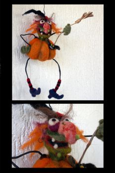 Halloween witch by Woolydesigns