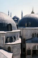 Blue Mosque from Hagia Sophia by OnayGencturk