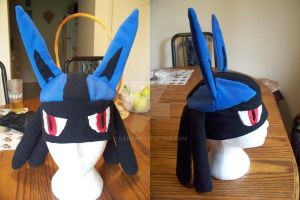 Lucario Hat w Eyes - sold by Kai45