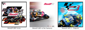 MotoGP'07 + Ultimate Racing Tech 3 Icons By RhyZ66 by Rhyz66
