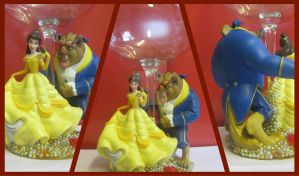 Double Character Glasses: Beauty and The Beast by amandas-crafts