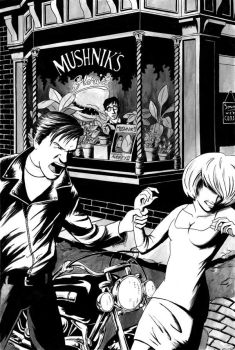 Little Shop - Inks + Ink Wash by CrazyChucky