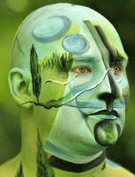 Facepainting Man by iacubino