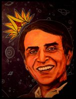King of the Cosmos: Carl Sagan by asamamoru