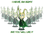 Avengers : Loki chibi by LaLunatique