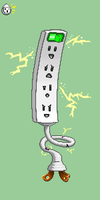 Power strip monster by Hexaditidom