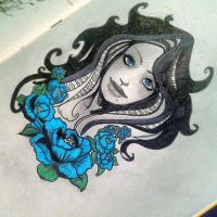 Blue flowers by kab3on