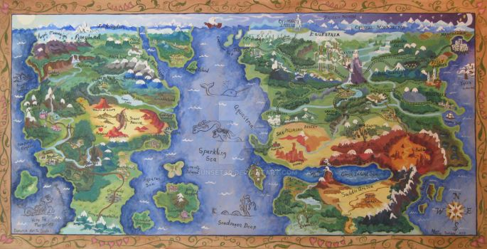 Map of the Known Pony World by Sunset80