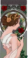 Portrait a la Mucha - The Rose by sweetmaiden