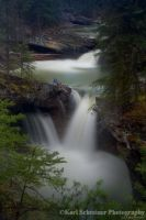 Johnston Canyon Waterfall 2 by KSPhotographic
