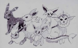 Eevee Evolutions by Deluxe0111