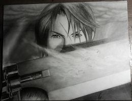 Squall Pencil Drawing Finished by julydart