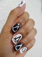 Assassin's Creed Nail Art by SuperG0blin