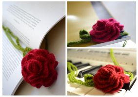 Rose bookmark by Rienei