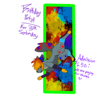 It's my b-day invite by BL1ND-PR1NCE