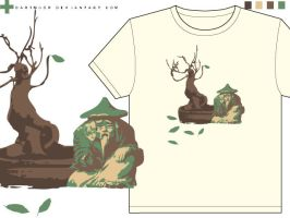 shedding leaves t-shirt design by dartmoor
