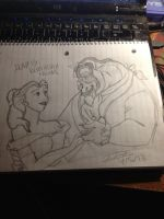 Beauty and The Beast - Not-so-good sketch by BrandiSwick227