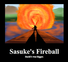 Sasukes Fireball by XxRavenUchihaxX