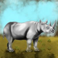 A Rhino Named Quency by Keflavik