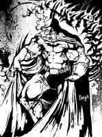 batman bw by Goretoon