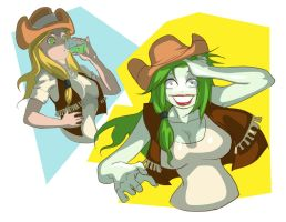 Little Green Haired Varmint by Jokerisdaking