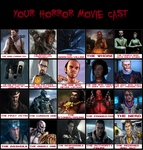 My Horror Movie Cast by benoski