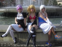 Lisanna, Lucy and Virgo by Sakura5002